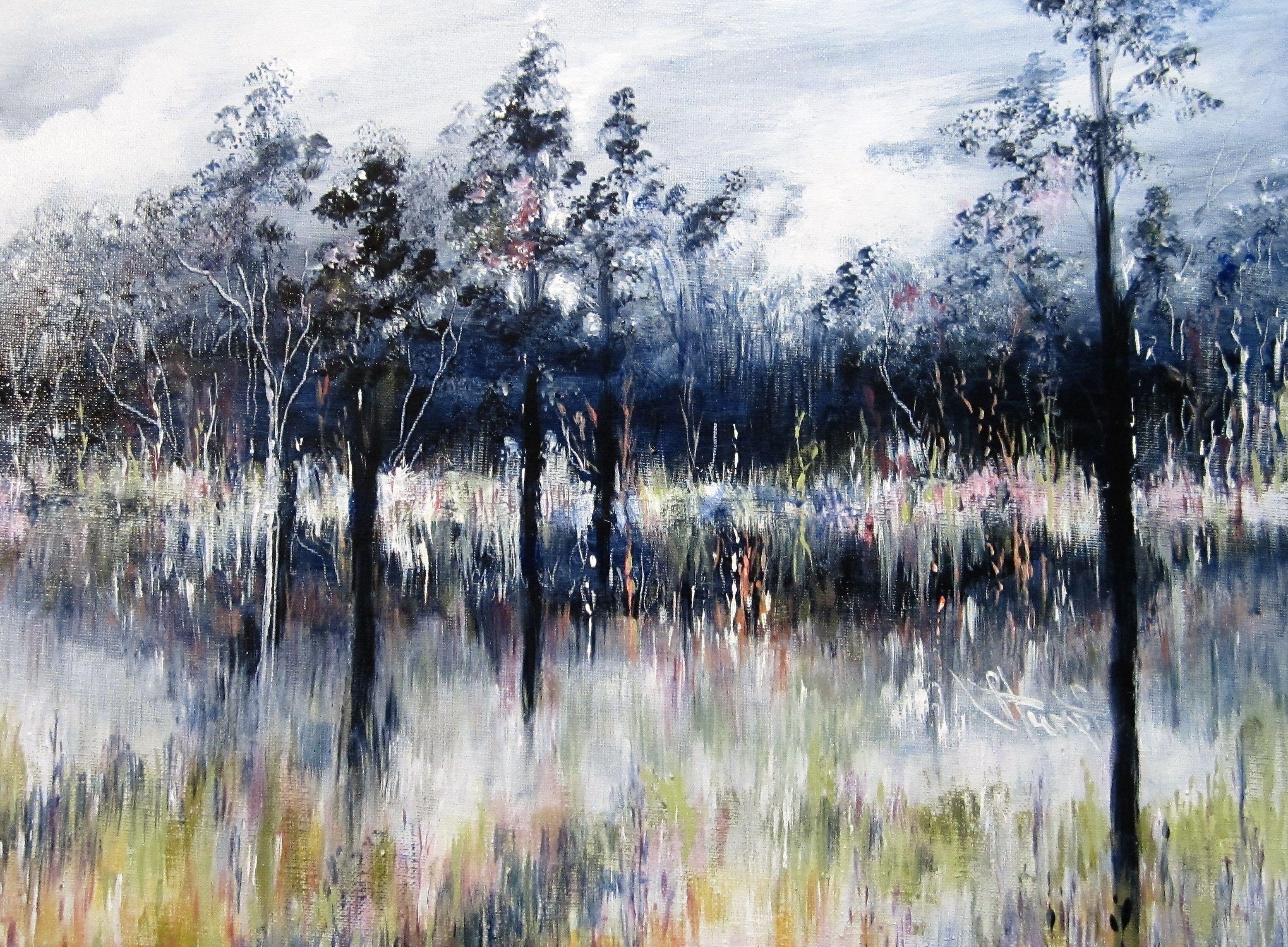 """""""The Bog"""", Acrylic on Canvas, 16"""" x 20"""""""