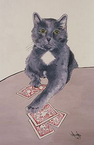 """""""Dennis... What?"""", Acrylic on Linen, 16"""" x 20"""", by Mary Patricia Stumpf"""