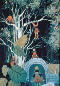 """Rag Doll Holiday"", Batik on Cotton, 25"" x 17"" by Mary Patricia Stumpf"