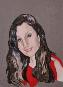 """""""Christina"""", – 12"""" x 9"""" – Acrylics and Watercolor and Acrylic Pens by Mary Patricia Stumpf, Copyright 2020"""