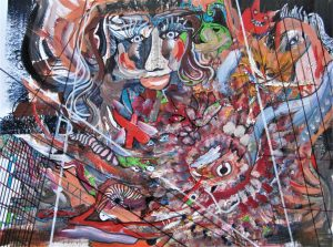 """""""ABSTRACT"""", Mixed Media, 16"""" x 20"""", by Mary Patricia Stumpf"""