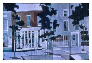 """Wilmington Street"", Batik on Cotton 40"" x 60"", by Mary Patricia Stumpf"
