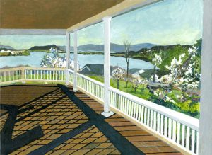 """""""Tennessee Porch"""", Acrylic on Canvas, 16"""" x 20"""", by Mary Patricia Stumpf"""