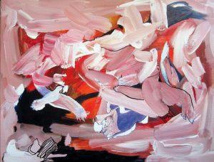 """Birds In Flight"", Acrylic on Canvas, 18"" x 22"" by Mary Patricia Stumpf"