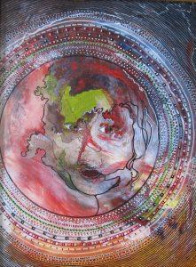 """Dilemma"", Acrylic on Canvas, 20"" x 16"" by Mary Patricia Stumpf"