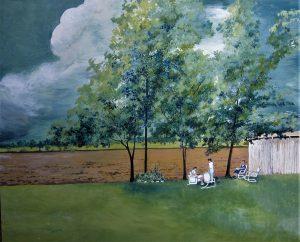 """Joe's Painting"" - Acrylic and Watercolor on Masonite - 16"" x 20"""